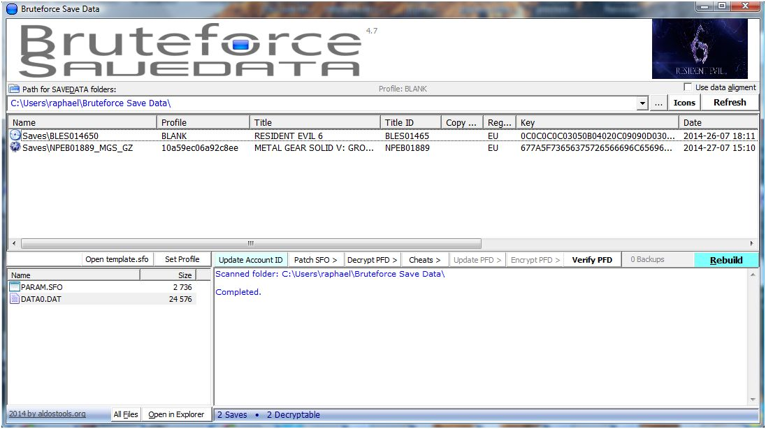 Bruteforce save data Ps3